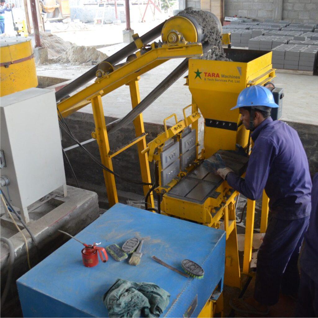 Fly Ash Bricks under construction