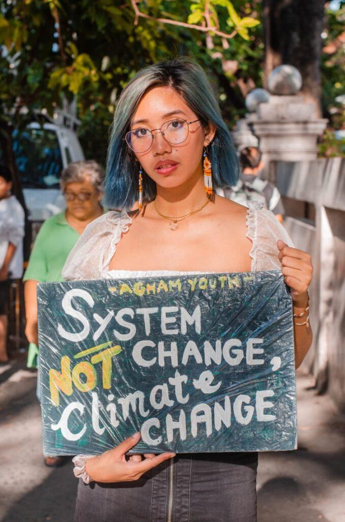Mitzi Joelle demands climate action