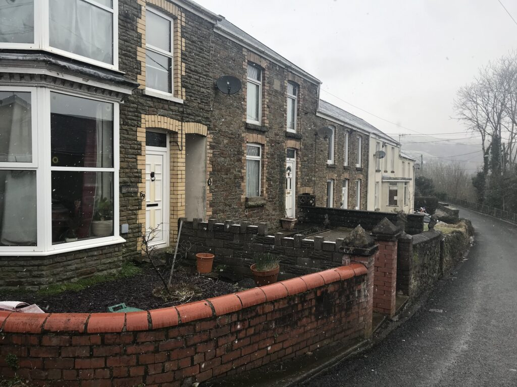 Traditional houses in Swansea