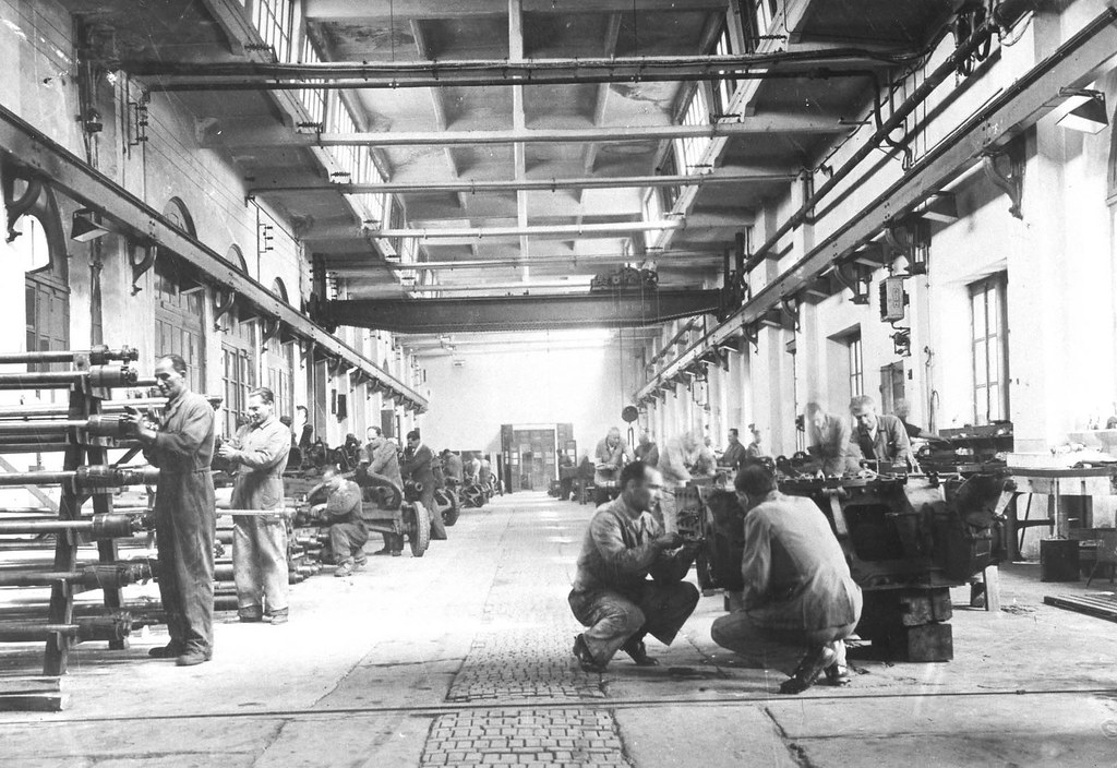Photo depicting the Arsenal of Peace when it used to be a weapon factory.